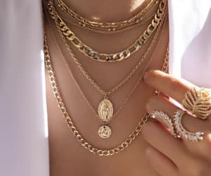 necklace, gold, and rings image