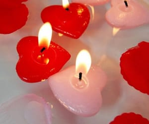 candle, pink, and red image
