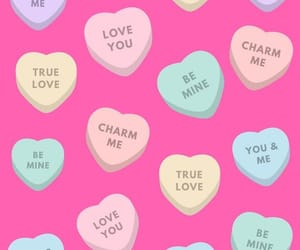 candy hearts, pastels, and pink image