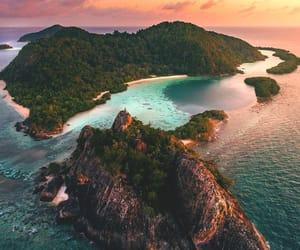 Island, nature, and beauty image