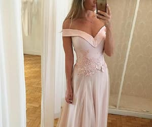 prom dresses, pink prom dresses, and appliques prom dresses image