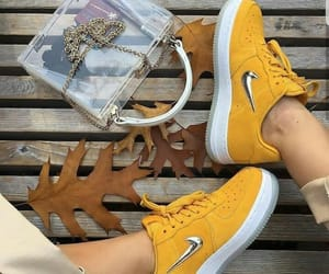 sneakers, yellow, and nike image
