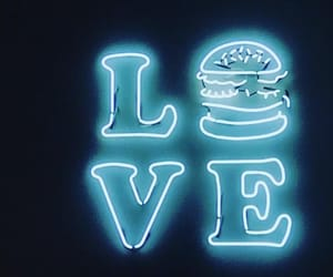 blue, bright, and burger image