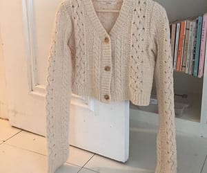 beige, fashion, and crochet sweater image