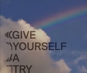 inspiring, rainbow, and wallpaper image