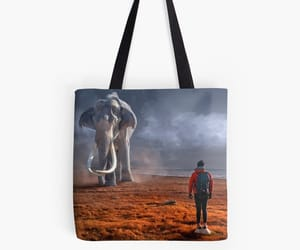 animals, monolith, and tote bag image