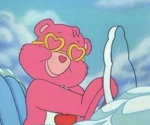 pink, cartoon, and care bears image
