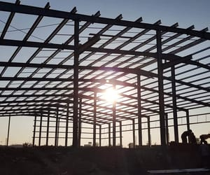 pre engineered building, prefabricated structures, and warehouse shed image