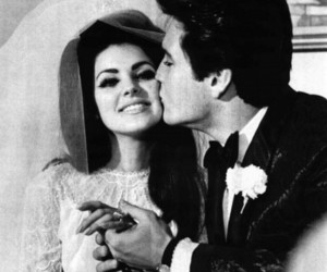 priscilla presley, Elvis Presley, and love image
