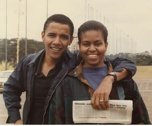 couple, barack obama, and michelle obama image