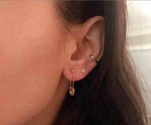 delicate, ear, and earrings image