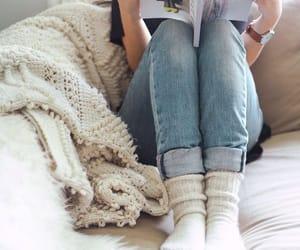 comfort, plaid, and socks image