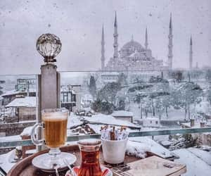istanbul, turkey, and snow image