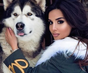 girl, dog, and goals image