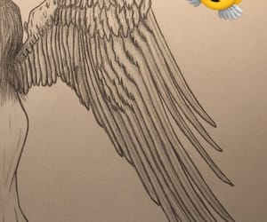angel, black and white, and sketch image