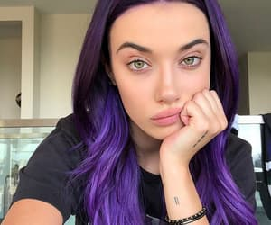 girl, purple hair, and olivia obrien image
