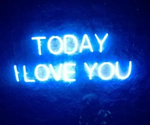 blue, neon, and love image