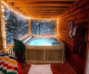 home, snow, and christmas image