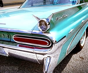 fins, old car, and pontiac image