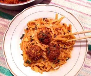 dinner, meatballs, and homemade image