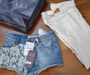 fashion, Zara, and shorts image