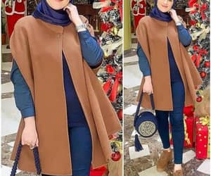 poncho with hijab image