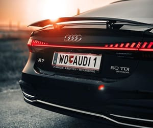 audi, sunset, and wallpaper image