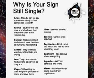 single and zodiac signs image