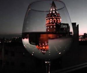 light, night, and wine image
