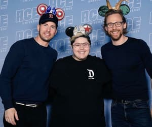 captain america, chris evans, and comic con image