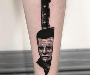 black, tattoo, and horror image