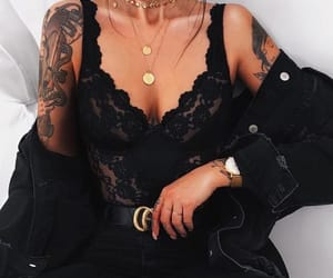 belt, fashion, and necklace image