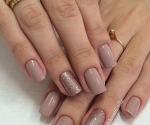 manicure, nail polish, and nude colors image