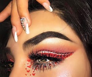 aesthetic, makeup, and red image