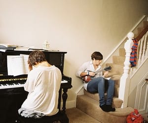 boy, music, and piano image