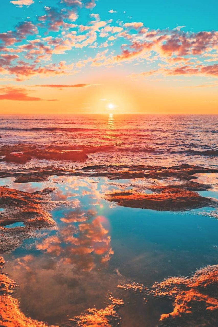 beautiful, ocean, and sun image