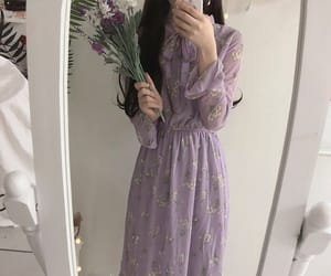 aesthetic, dress, and korean fashion image