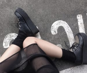 girl, shoes, and minimal image