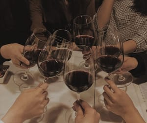 wine, friends, and drink image