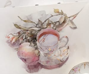tea and watercolor image