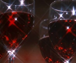 red, aesthetic, and wine image