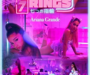 celebrity, ariana grande, and 7 rings image