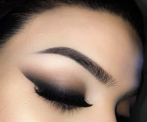 black, eyeliner, and make up image