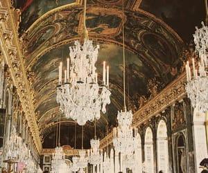 chandelier, france, and golden image