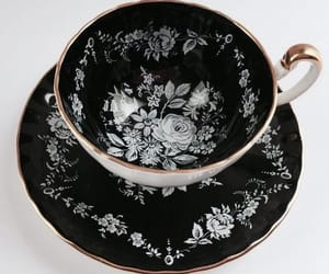 cup, black, and tea image