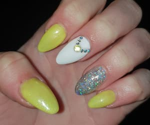 luxury, shining, and yellow nails image