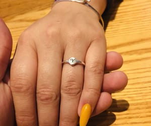 flowers, ring, and yellow image