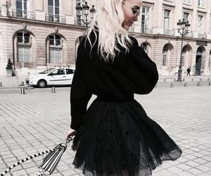 black, city, and fashion image