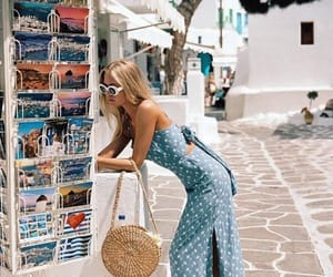 summer, dress, and travel image