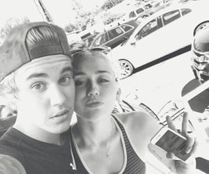 aesthetic, b&w, and miley cyrus image
